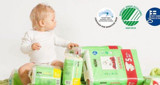 Ekologické jednorázové plenky MUUMI BABY 2