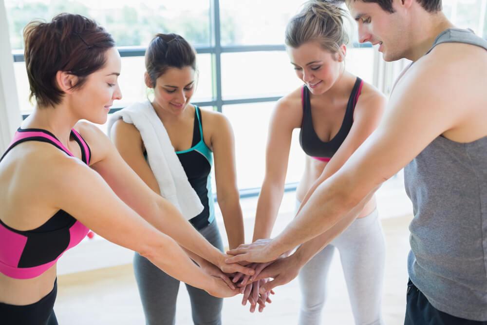 Cvičení s přáteli
