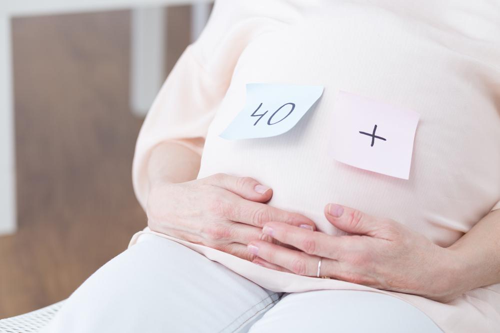 Těhotná po čtyřicítce