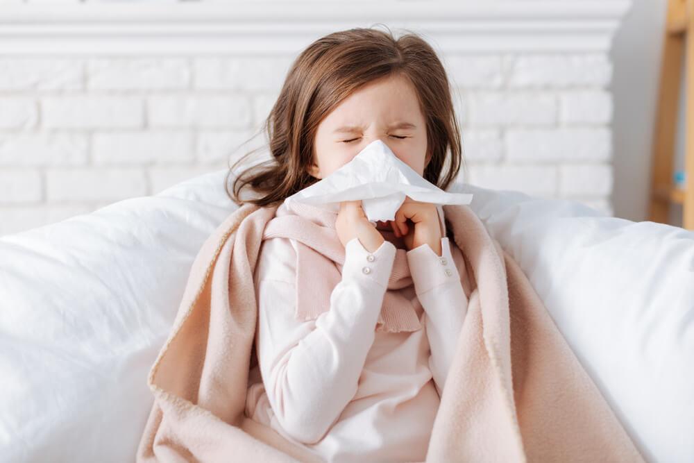 Holčička s chřipkou