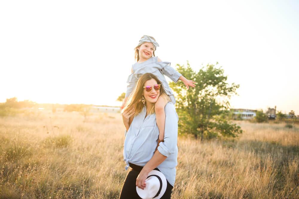 Maminka sladěná s dcerou