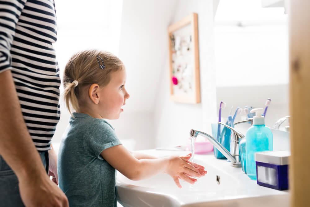 Mytí rukou u děti