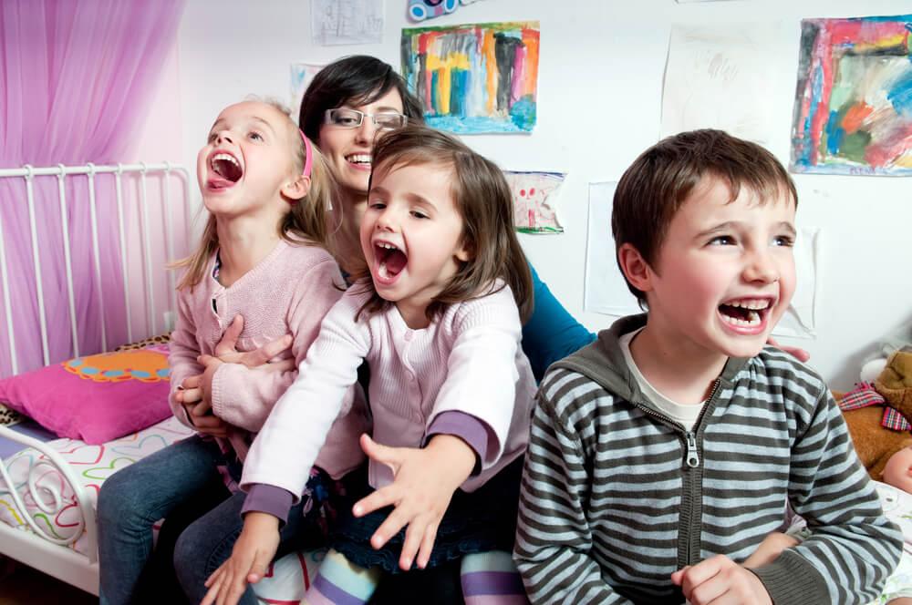 Maminka a tři děti