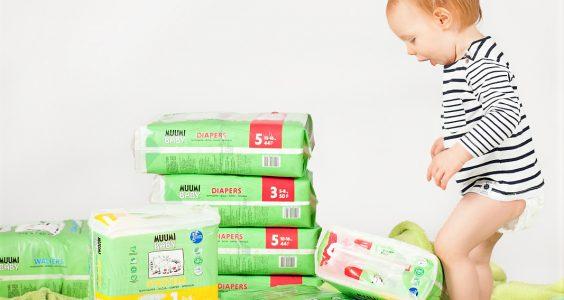 Ekologické jednorázové plenky MUUMI BABY 4
