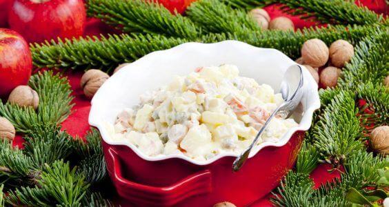 Vánoční bramborový salát 1