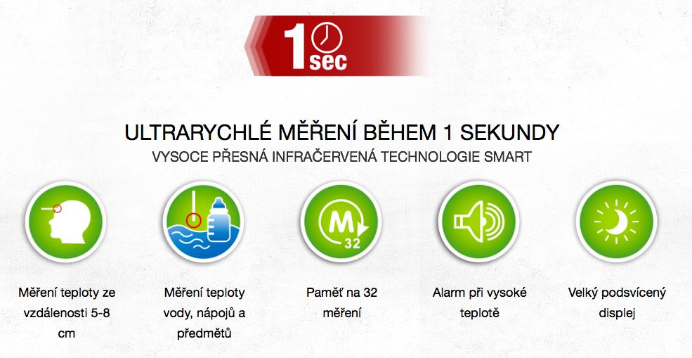 Testujte ultrarychlý bezkontaktní teploměr Cemio Metric 308 SMART 3