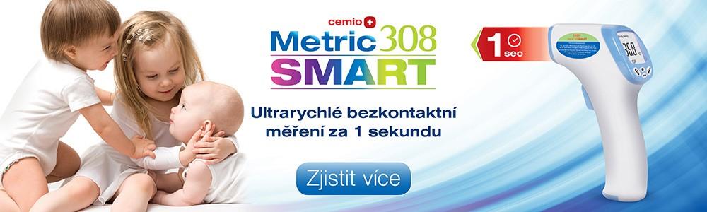 Ultrarychlý bezkontaktní teploměr Cemio Metric 308 SMART