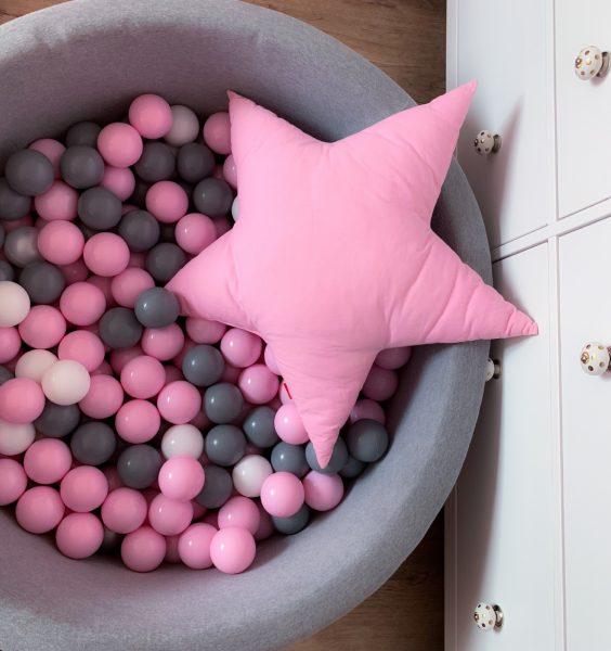 suché bazénky s kuličkami - růžová