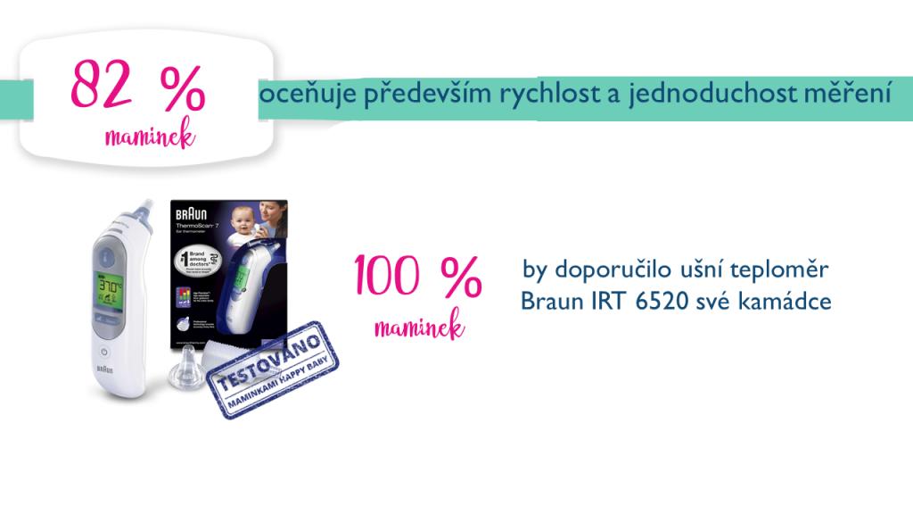 Výsledky testování ušní teploměr Braun IRT 6520