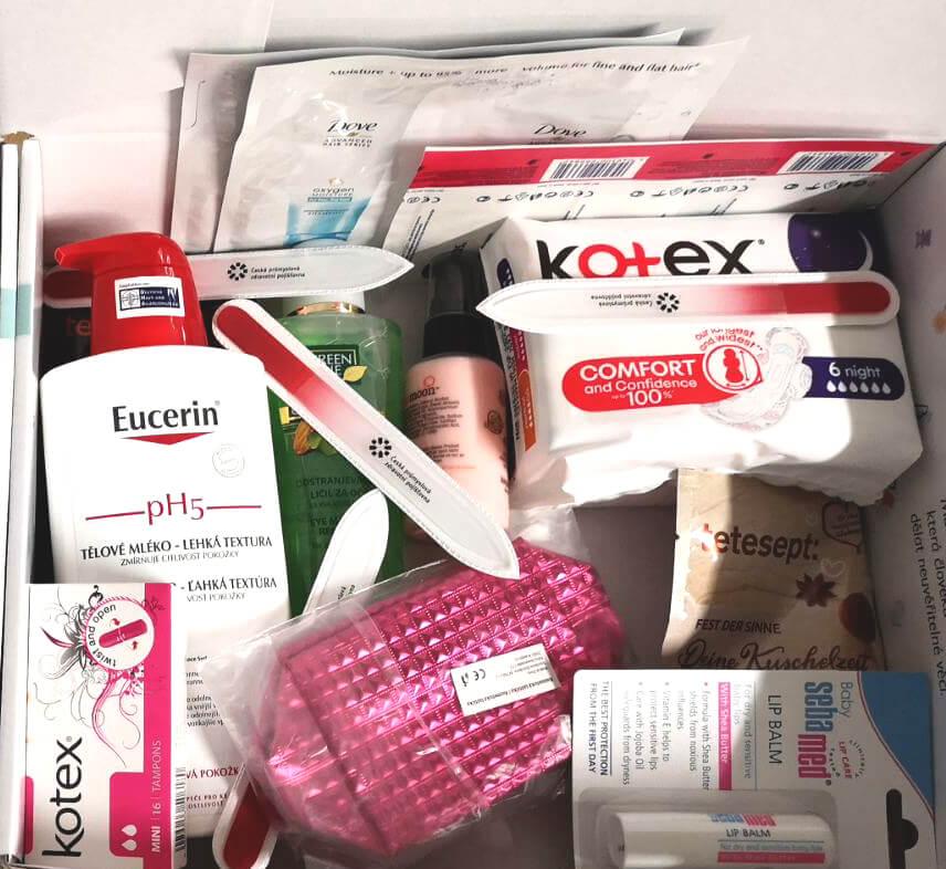 Ukázka balíčku do porodnice pro sestřičky