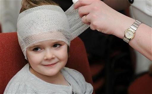 Zavázání hlavy dítěte