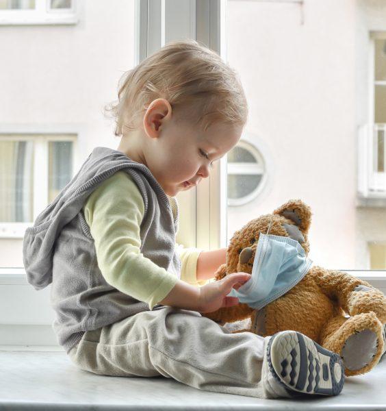 Koronavirus masky děti Happy Baby