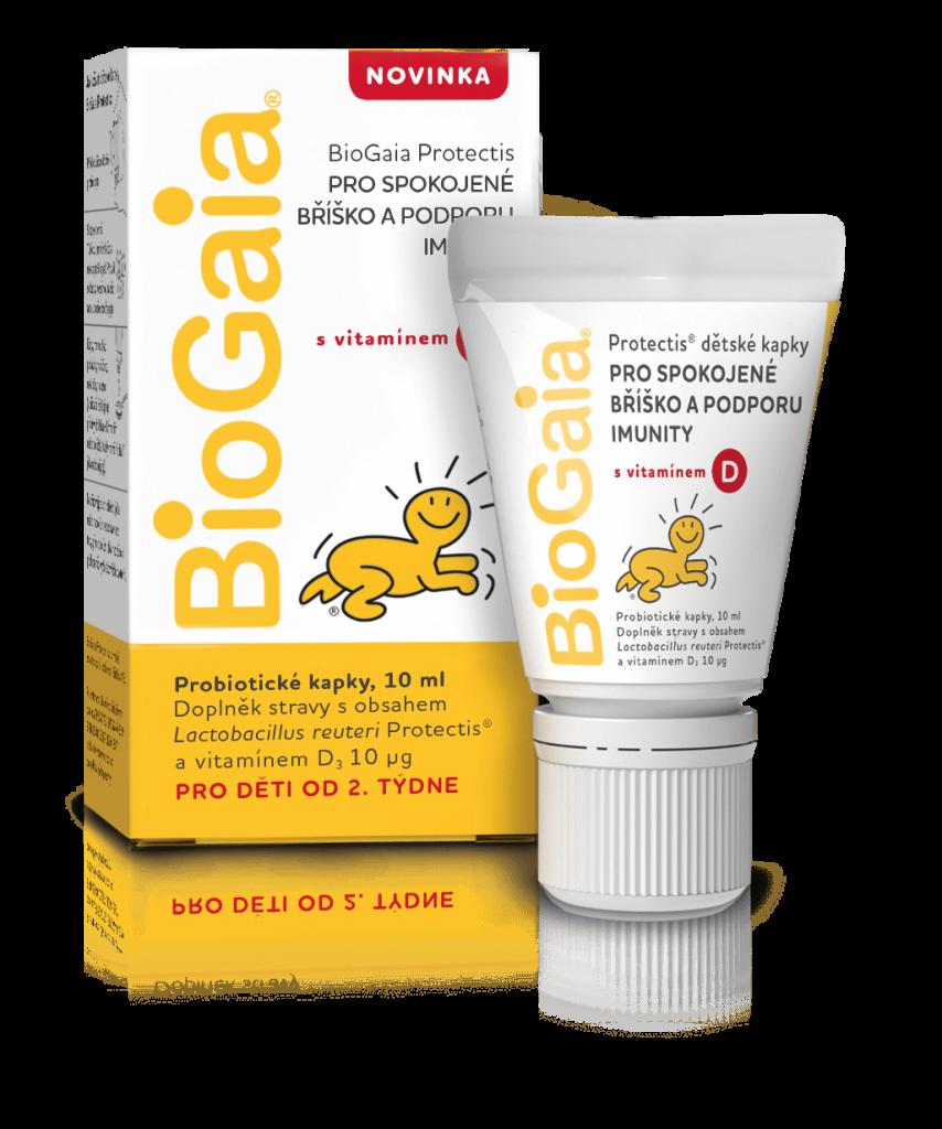 Biogaia s vitaminem d krabička a tuba