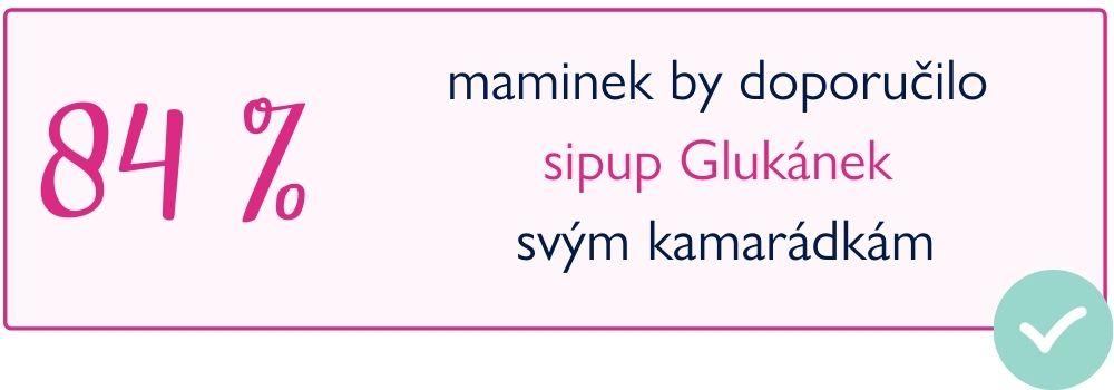Glukánek - statistika