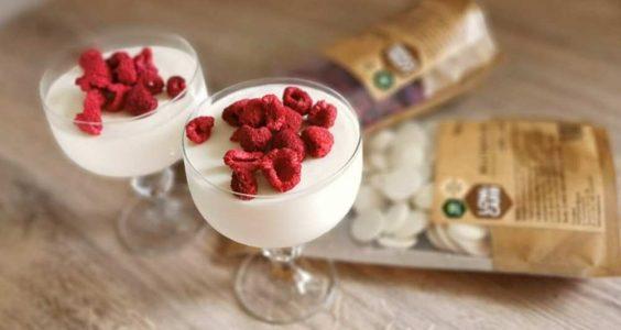 Topnatur pěna z bílé čokolády s malinami